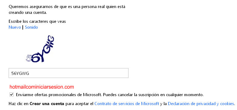 como crear un correo outlook